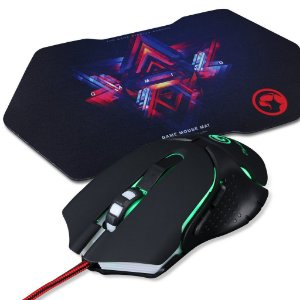 Kit Mouse Gamer Marvo Scorpion M309 1000/2400 DPI + Mouse Pad G7