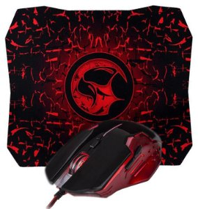 Kit Mouse Gamer Marvo Scorpion M416 1000/2400 DPI + Mouse Pad G1 GD