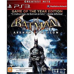 Batman Arkham Asylum - Ps3 Mídia Fìsica Novo Lacrado