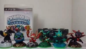 Game Skylanders Spyros Adventures + 06 Personagens + Portal Do Poder Ps3 Usado