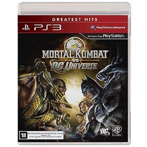 Mortal Kombat Vs Dc Universe - Ps3 Mídia Física Usado
