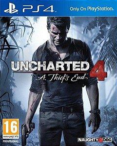 Uncharted 4 - PS4 Mídia Física Usado