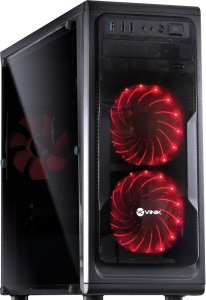 GABINETE GAMER GUARDIAN FULL WINDOW VERMELHO