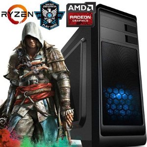Computador Intervia Vega3 AMD Ryzen 2200G Quad Core 3.5Ghz + 8GB DDR4 + HD SSD 240GB + Ati Radeon Vega 8