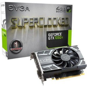 Placa de Vídeo EVGA Nvidia Geforce GTX 1050TI 2GB DDR5 128 Bits Superclocked