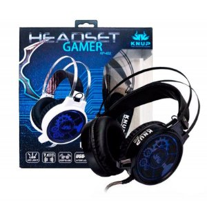 HEADSET GAMER PRO KP-402 Vibration 7.1 Sound Effect Knup Preto
