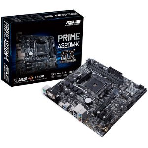 Placa Mãe AM4 ASUS A320M-K PRIME DDR4 VGA/HDMI/RGB