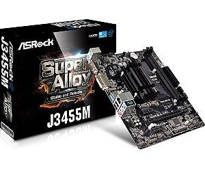 Placa Mãe Asrock J3455M + Processador Quad Core 2.30 Ghz Integrated Intel HD Graphics 500