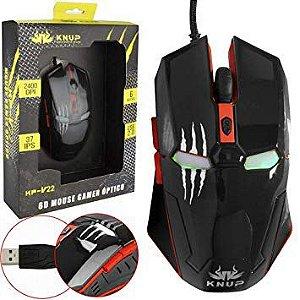 Mouse Gamer Iron Man 6D Knup KP-V22 RED