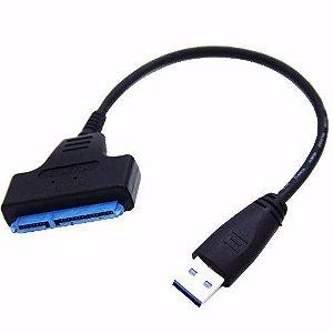 Cabo Adaptador Conversor Usb 3.0 Sata Hd 2.5 SSD