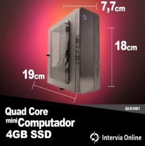 Mini PC AMD Quad Core 4GB SSD 120GB