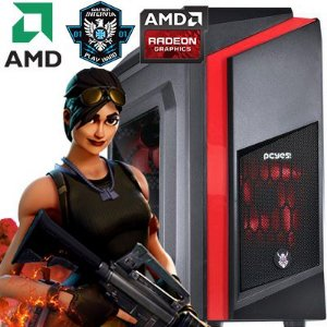 Computador  Intervia AMD Ryzen 3 1200 3.10Ghz Quad Core + 8GB DDR4 + HD SSD 240GB + Ati Radeon RX 550 4GB DDR5