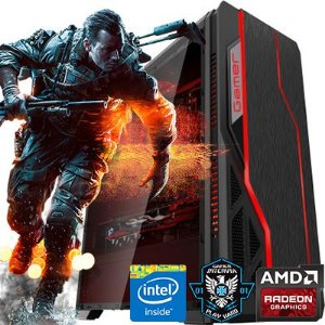 Computador  Intervia AMD Ryzen 3 1200 3.10Ghz Quad Core + 8GB DDR4 + SSD 480GB + Ati Radeon RX 560 4GB DDR5