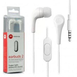 Fone de Ouvido Motorola Earbuds Branco