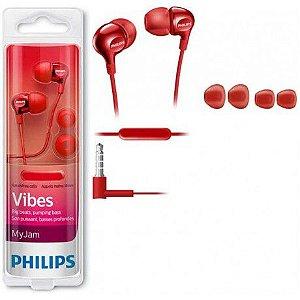 Fone com Microfone Philips Vibes SHE3705RD Vermelho