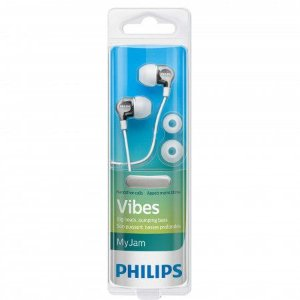 Fone com Microfone Philips Vibes SHE3705WT  Branco
