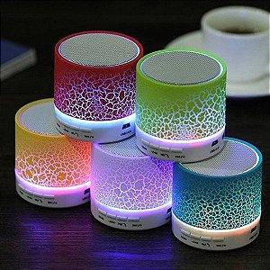 Caixa de Som Bluetooth com LED Colorido - CS-A12BT