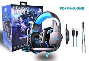 Headser Gamer Knup KP-455 Azul 7.1- PC / Xbox One / PS4 / Celular