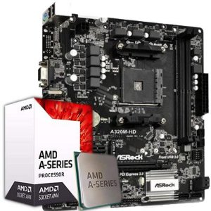 Kit Upgrade, AMD A8 9600 3.10 Ghz AM4, ASROCK A320M-HD DDR4