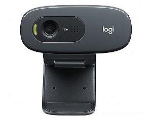 WEBCAM LOGITECH C270 HD 720P COM MICROFONE PRETA