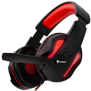 Headset Gaming Evolut Thoth Red