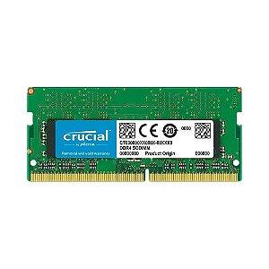 Memória Crucial 4GB DDR4 2400 Notebook CT4G4SFS8240