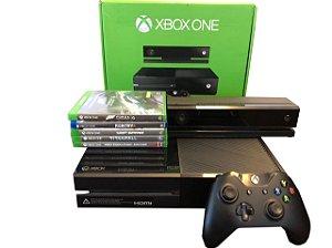 Videogame Xbox One 500GB c/ 1 Controle + 5 Jogos + Kinect  ( Semi Novo )