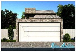 Planta Pronta com 2 Quartos sendo 1 Suite, Sala e Cozinha Ideal p/ Climatização - com Área de 67m²