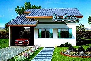 Planta Pronta p Aprovação na Prefeitura com 2 Quartos sendo 1 Suite - com Área de 68m²