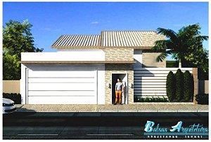 Planta Pronta com 2 Quartos sendo 1 Suite e Previsão p/ 3º Quarto - com Área de 69m²