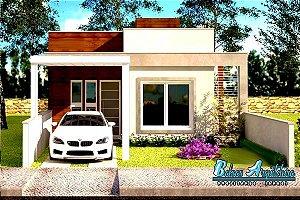 Planta Pronta com 2 Quartos, Sala com vista p/ Jardim e pronta p/ Climatizar - com Área de 69m²
