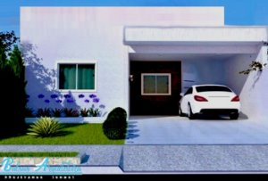 Planta Pronta com 2 Quartos, sendo 01 Suite com Ampla Sala e Cozinha - com Área de 69m²