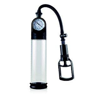 Pro Solution Pump Desenvolvedor e Bomba de Sucção Peniana com Manômetro e Manopla