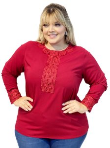 CAMISA ML VISCOSE LISO C GRIPIER PLUS SIZE - 6060