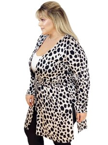 6477 - MAX CARDIGAN JACARD ANIMAL PRINT