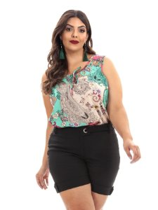 6244 - REGATA VISCOSE ESTAMPADA PLUS SIZE