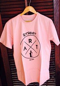 Camiseta Street Art Rosa