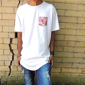 Camisa Bolso Borboletas - Branca