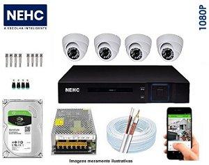 SEG31 - Kit Completo 4 câmeras 1080P