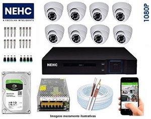 SEG41 - Kit Completo 8 câmeras 1080P