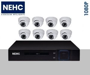 SEG11 - Kit básico 8 câmeras 1080P