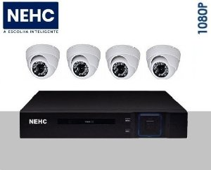 SEG01 - Kit básico 4 câmeras 1080P