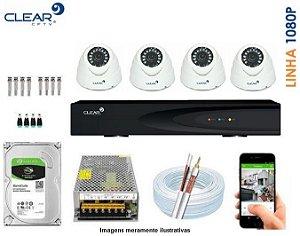 SEG32 - Kit Completo 4 câmeras 1080P