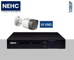SEG23 - Kit básico 16 câmeras 1080P
