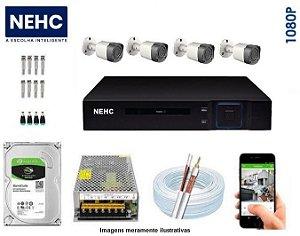 SEG33 - Kit Completo 4 câmeras 1080P