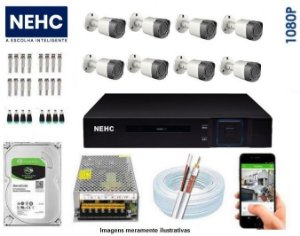 SEG43 - Kit Completo 8 câmeras 1080P