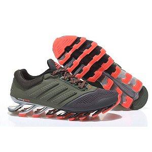 Tênis Adidas Springblade Drive 2 Verde e Laranja
