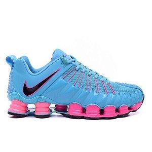 Tênis Nike Total Shox 12 Molas Azul e Rosa