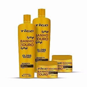 BANHO DE OURO TIGO COSMÉTICOS ( 2X KIT'S )