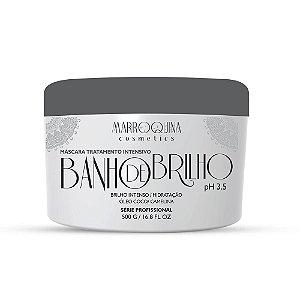 BANHO DE BRILHO ÓLEO DE COCO 500gr MARROQUINA COSMETICS